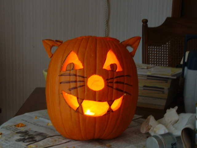 Happy Halloween cat-pumpkin thing